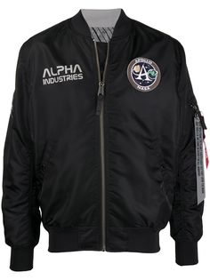 Alpha Industries бомбер с нашивкой-логотипом