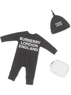 Burberry Kids комплект из комбинезона и шапки с логотипом