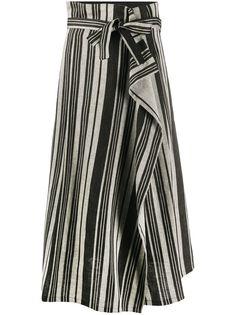 Max Mara юбка А-силуэта в полоску
