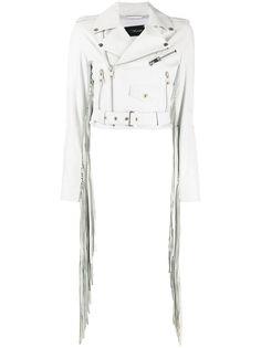 Manokhi укороченный пиджак с бахромой
