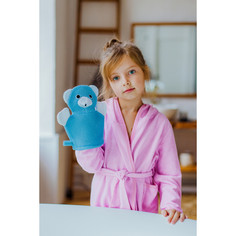 Мочалка-варежка детская с петелькой Доляна