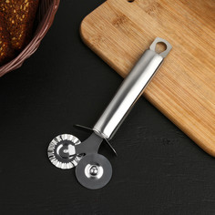 Нож для пиццы и теста steel, 410 сталь, 19 см Доляна