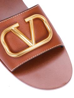 Кожаные шлепанцы VLOGO TW2S0M21HWS Valentino