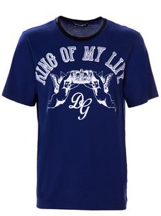 Хлопковая футболка с принтом G8HV4T FH7Y5 HBS09 Dolce & Gabbana