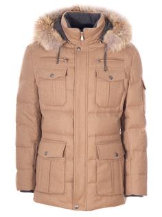 Пуховая куртка из шерсти Brunello Cucinelli