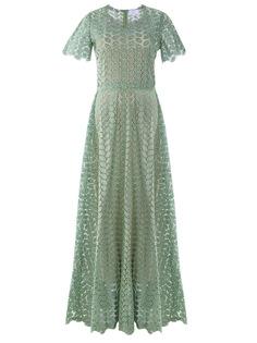 Хлопковое платье с кружевом Luisa Beccaria