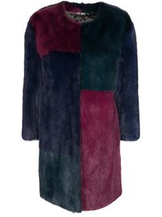 Норковая шуба колор-блок VI1M1VM1453/3 цвета Simonetta Ravizza