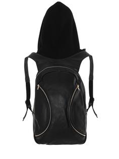 Кожаный рюкзак с капюшоном Alina German