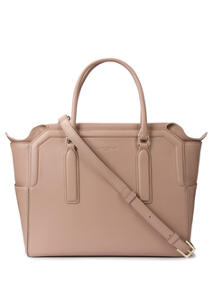 Кожаная сумка 573-72-NUDE/бок.карманы/ Бежевый Lancaster