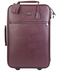 Кожаный чемодан на колесиках ВМ0932/ Бордовый Dolce & Gabbana