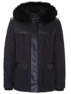 Стеганая куртка с мехом лисицы Philipp Plein