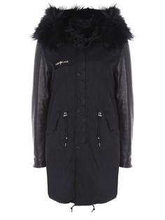 Парка комбинированная WW16PM6PARKA LAPIN/черн/черн мех/длин Camouflage Couture