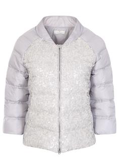 Куртка стеганая с пайетками D22604GZ Жемчужн. Panicale