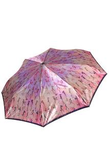 """Складной зонт автомат с принтом """"Люди"""" Fabretti"""