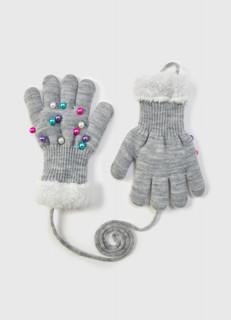 Трикотажные перчатки для девочек O'stin