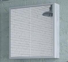 Зеркальный шкаф 70х70 см арт/серый Corozo Айрон SD-00000279