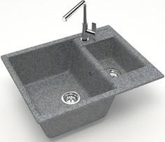 Кухонная мойка Zett Lab Модель 190 темно-серый матовый T190Q008