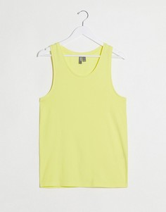 Желтая обтягивающая майка из органического хлопка ASOS DESIGN-Желтый