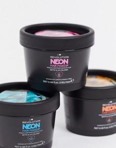 Светящаяся в ультрафиолете неоново-розовая краска для волосI HeartRevolution-Розовый