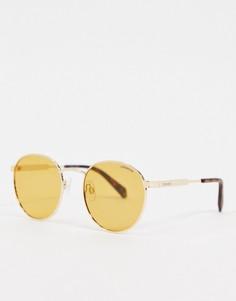 Солнцезащитные очки с круглыми стеклами Polaroid-Оранжевый