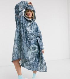 Водонепроницаемый дождевик с мраморным принтом 365 Dry-Синий