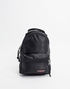 Черный атласный рюкзак Eastpak