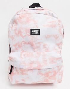 Рюкзак с принтом тай-дай розового цвета Vans Realm-Розовый