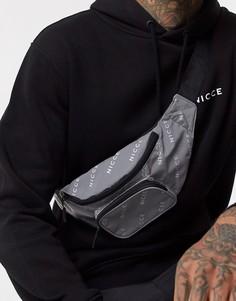 Серебристая сумка-кошелек на пояс со светоотражающим эффектом Nicce-Серебряный