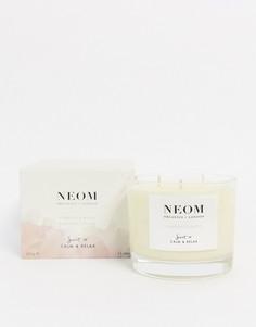 Ароматизированная свеча Neom Complete Bliss (3 фитиля)-Бесцветный