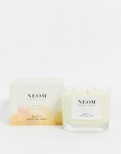 Ароматизированная свеча Neom Happiness (3 фитиля)-Бесцветный