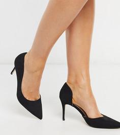 Черныетуфли-лодочки для широкой стопыс острым носком Miss KG-Черный