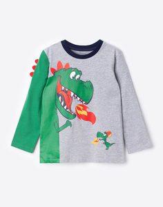 Лонгслив с драконами для мальчика Gloria Jeans