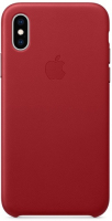 Чехол Apple Leather Case для iPhone Xs (PRODUCT)RED (MRWK2ZM/A)