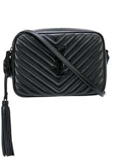 Saint Laurent стеганая сумка на плечо с монограммой