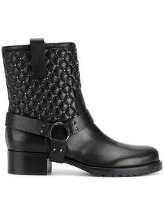Valentino Garavani стеганые байкерские ботинки