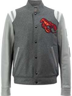 LANVIN бейсбольная куртка-бомбер с вышитым омаром