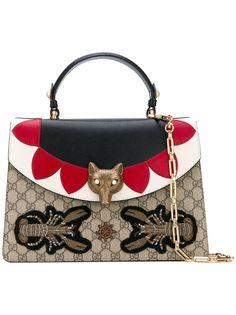 Gucci сумка на плечо с декором в виде головы лисы