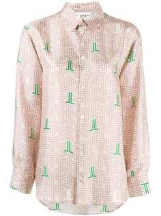 LANVIN рубашка JL labyrinth с принтом