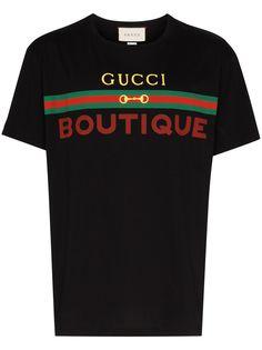 Gucci футболка с принтом Gucci Boutique