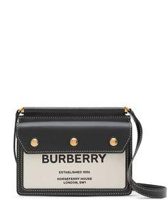 Burberry сумка-мини Title с принтом Horseferry