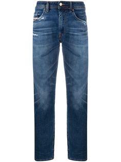 Diesel джинсы прямого кроя с эффектом потертости