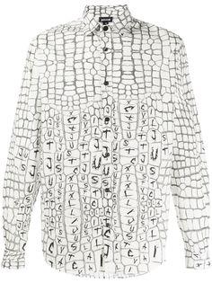 Just Cavalli рубашка с тиснением под кожу крокодила