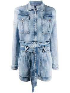 LIU JO джинсовый ромпер с поясом