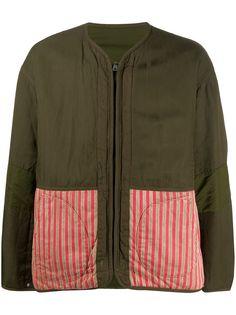 visvim двусторонняя куртка-бомбер с контрастными вставками