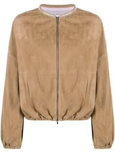 Fabiana Filippi куртка-бомбер со сборками и воротником-стойкой