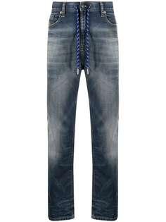Diesel джинсы с кулиской и эффектом потертости