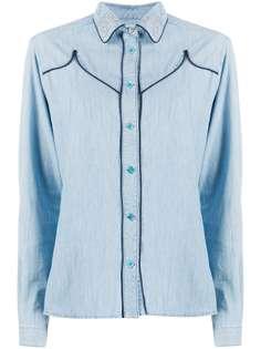Golden Goose джинсовая рубашка Alexa с заклепками на воротнике