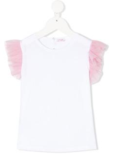 Il Gufo футболка с рукавами из тюля