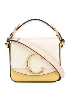 Chloé мини-сумка с металлическим логотипом
