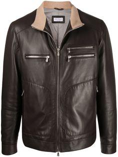 Brunello Cucinelli куртка-пуховик на молнии